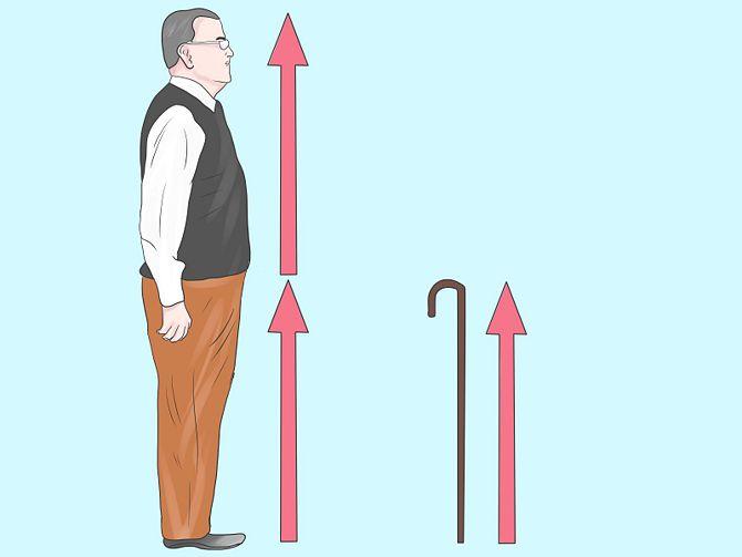 Juiste lengte bepalen wandelstok
